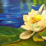 Water Lily (2014) Oil on canvas, 80cm x 40cm