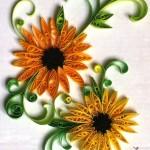Sunflowers (2015) Paper art on cardboard, 19.5cm x 28cm