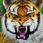 Tiger (2015) Acrylic on canvas board. 30.5cm x 30.5cm
